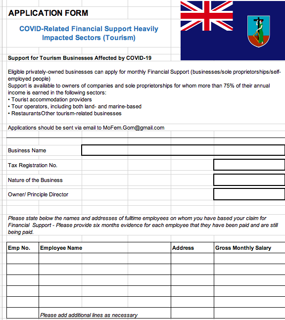COVID-19 Financial Support Number
