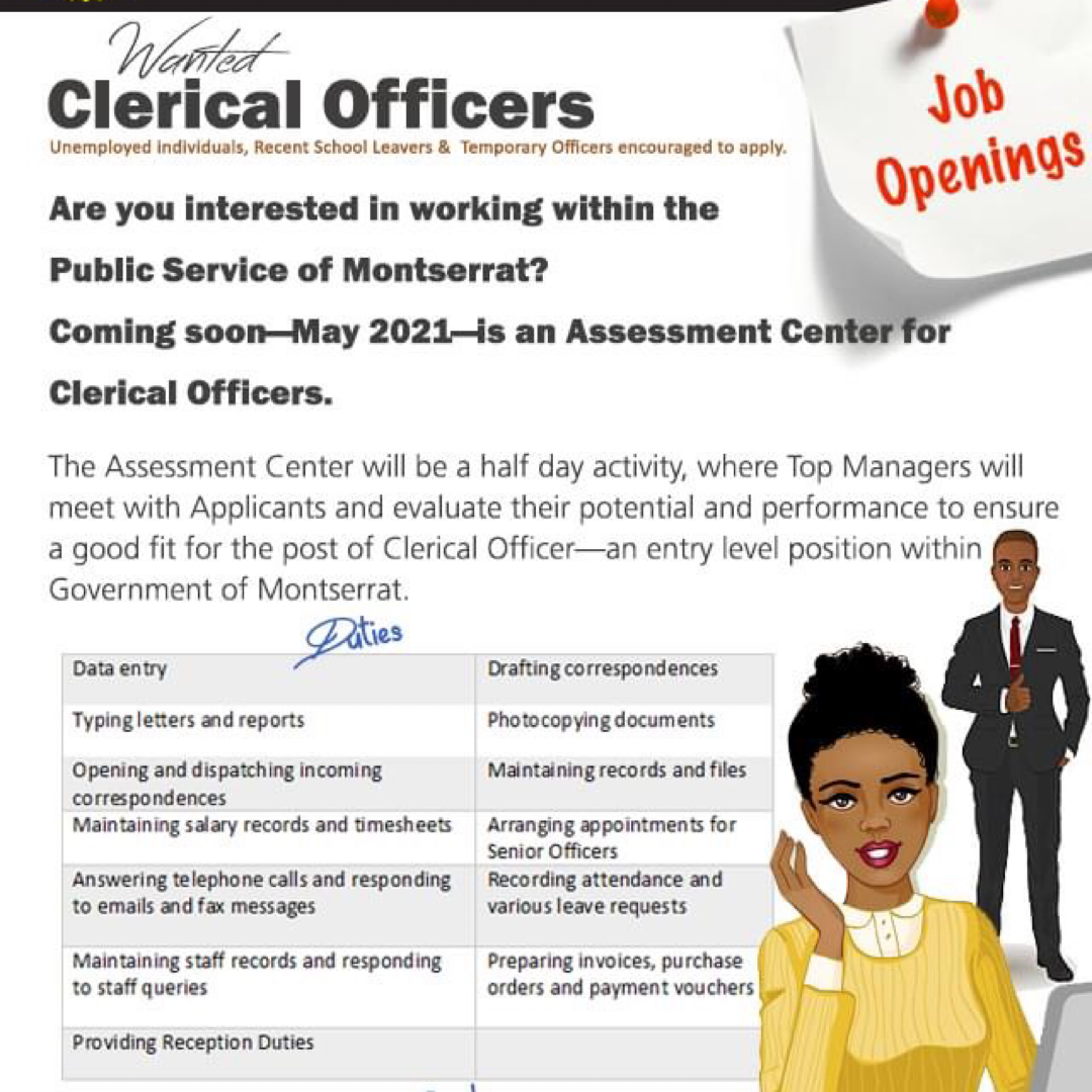 Government of Montserrat Clerical Officer Assessment Day